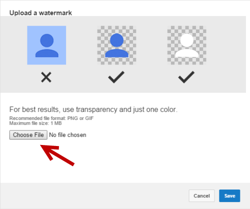Adding watermark to YouTube videos