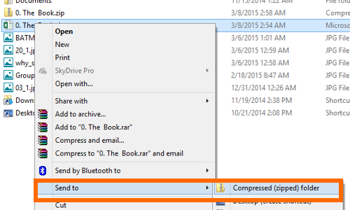 Compress the selected file