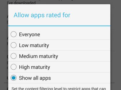 Maturity Content Levels