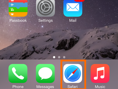 Safari icon on Home screen