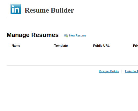 create linkedin resume