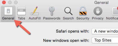 Safari General Settings
