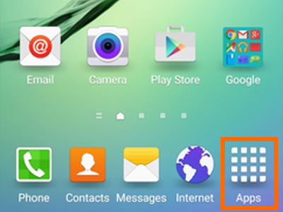 Apps on Galaxy S6 Edge