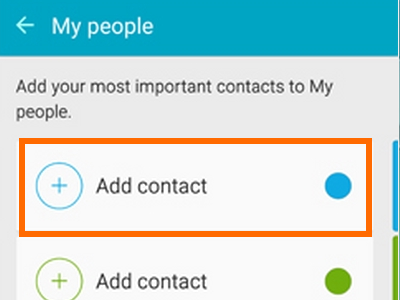 Assign a color to a contact