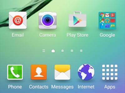 Galaxy S6 Edge home screen