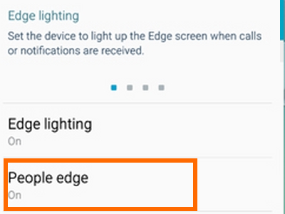 People Edge option on Galaxy S6 Edge