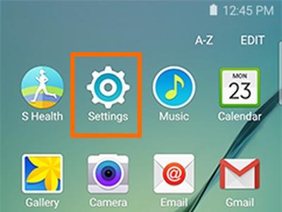 Settings on Galaxy S6 Edge