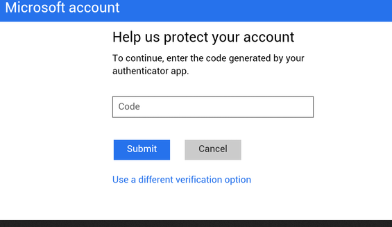 enable two factor authentication for microsoft account