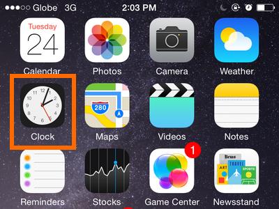 clock app on iphone