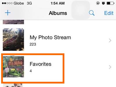 Folder on Photos app - iPhone 6 ios8