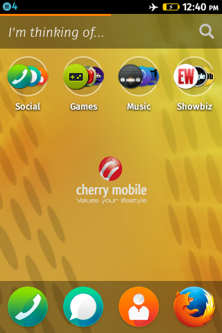 Home screen wallpaper change on Firefox OS