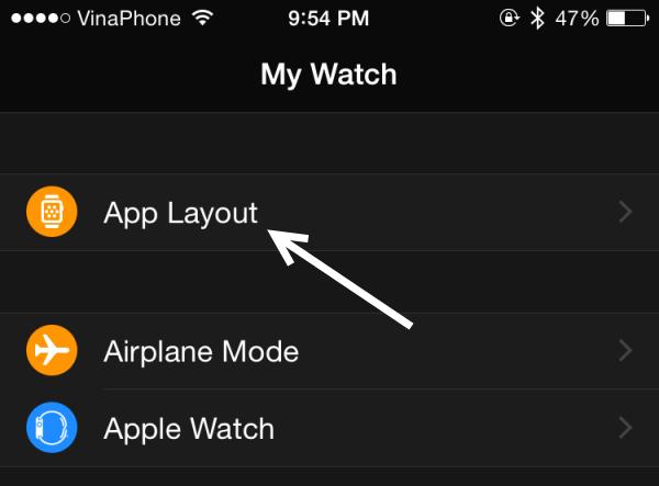 edit Apple Watch App Layout