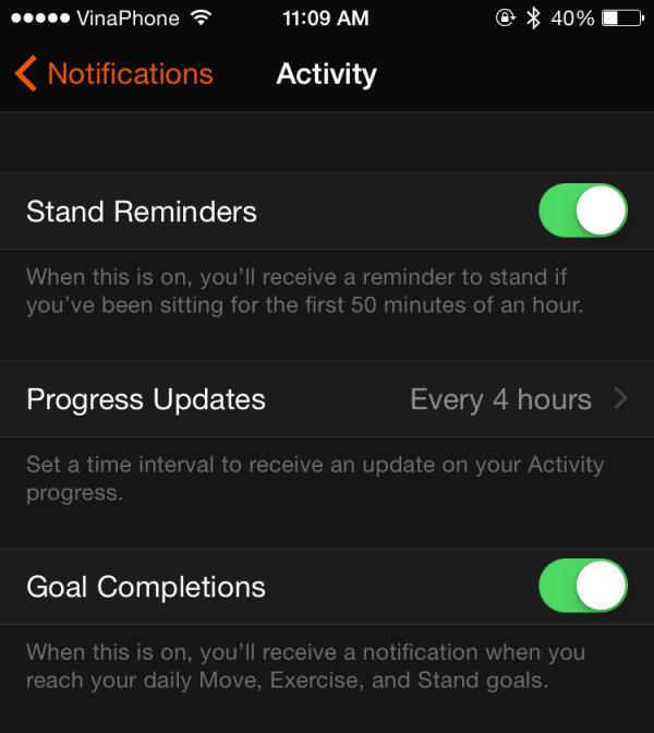 Apple Watch notification setting
