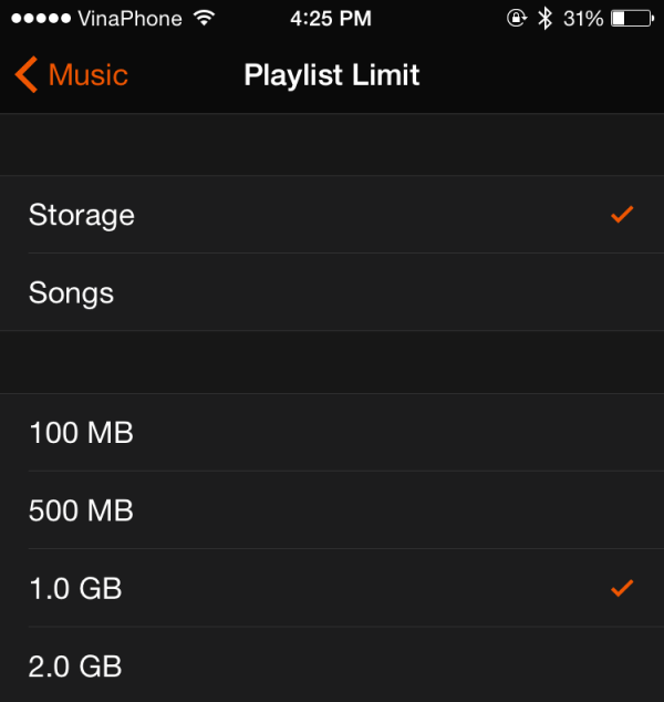 set limit for music on Apple Watch