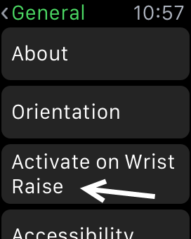 Apple Watch activate on wrist raise