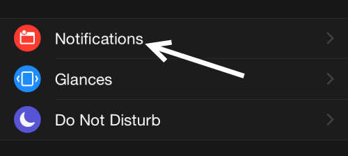 Apple Watch notification setting
