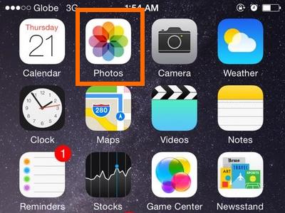 Photos app icon - iPhone 6 iOS8