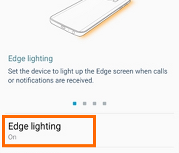 Samsung Galaxy S6 Edge Edge lightion option Icon