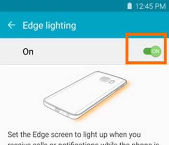 Samsung Galaxy S6 Edge Edge lightion switch Icon