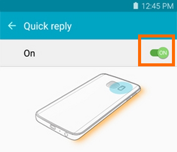 Samsung Galaxy S6 Edge Quick Reply Switch Icon