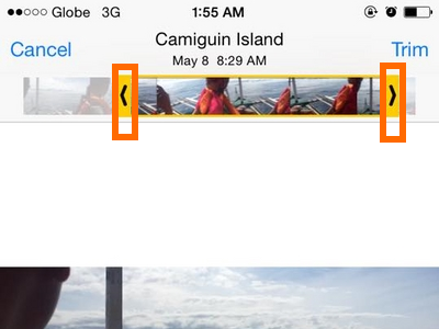 Slide on Video - iPhone 6 ios8