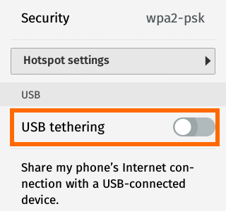 USB Tethering switch - Firefox OS
