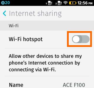 Wi-Fi Hotspot Switch - Firefox OS