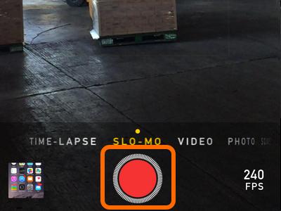 camera record button