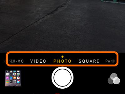 slider on camera app