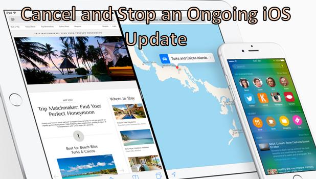 Cancel an iOS update