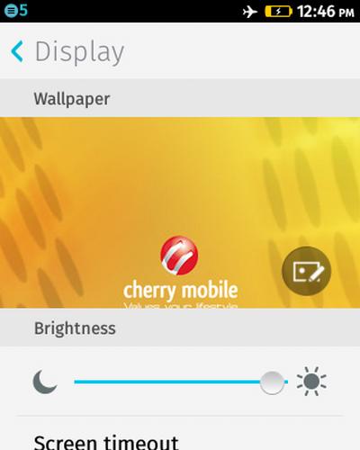 Firefox OS - Settings - Brightness Adjustment Done