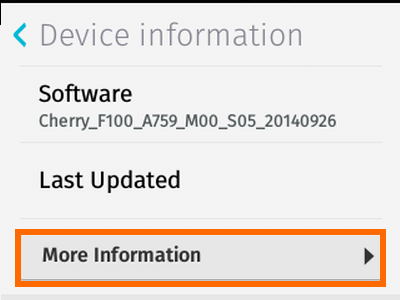 Firefox OS - Settings - Device Information