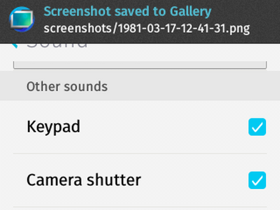 Firefox OS - Settings - Sounds - Other Sounds