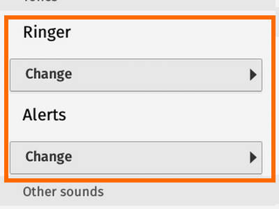 Firefox OS - Settings - Sounds - Ringer and Alert Sounds