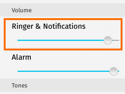 Firefox OS - Settings - Sounds - Ringer and Notifications