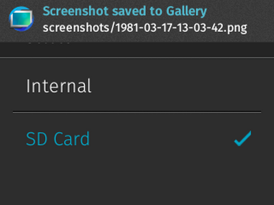 Firefox OS - Settings - Storage - Media Storage - Default Media Location- Change - SD card