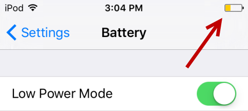 iPhone Battery Preserve mode