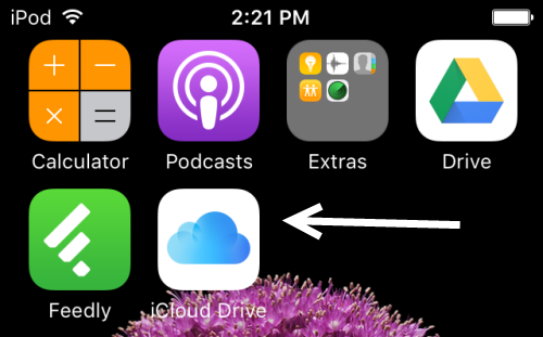 iCloud Drive on home screen