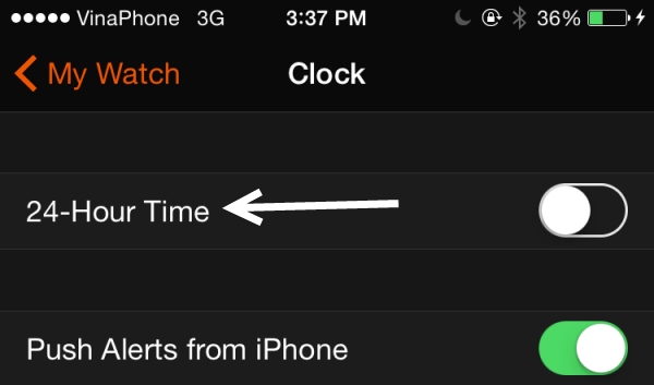 Apple Watch 24-Hour Time mode