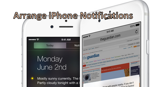 Manually Arrange iPhone Notifications