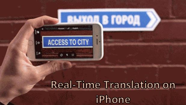Camera translator iphone 5