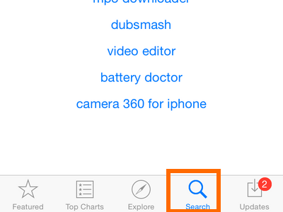 iPhone - App Store - Search Tab