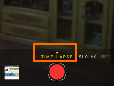 iPhone - Camera - Time Lapse