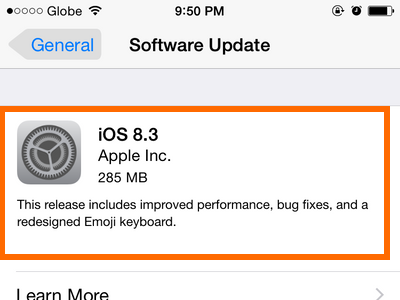 iPhone - Settings - General - Software Update
