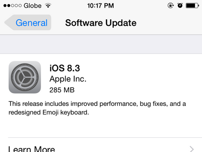 iPhone - Settings - Software Update