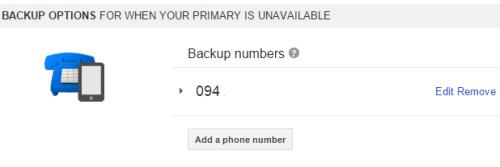 add backup numbers 2-step verification