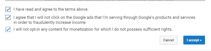 YouTube agreement