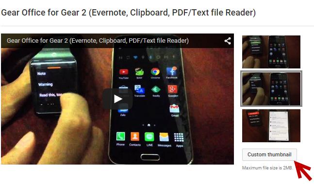 set custom thumbnail for YouTube videos