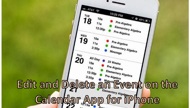 Edit and Delete Events on the Calendar App for iPhone