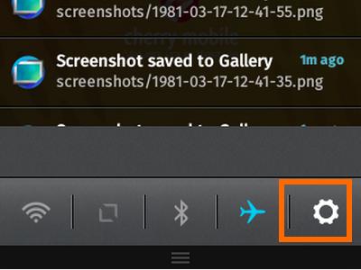 Firefox OS - Notifications - Settings